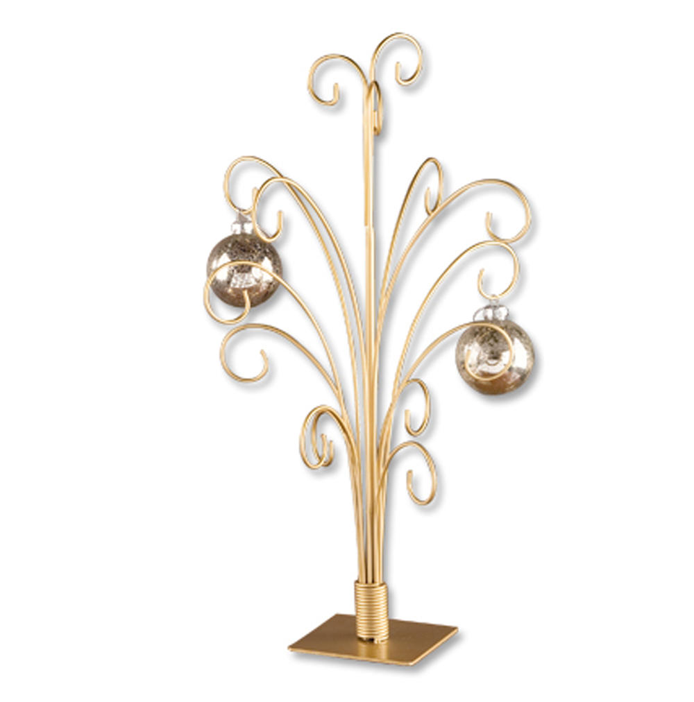 12 Arm Gold Ornament Tree  (Display Trees)