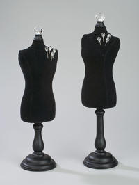 Black Velvet Table-Top Body Forms      (Jewelry Displays)