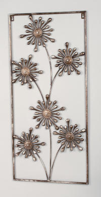Bronze Flower Wall Art  (Wall Decor)