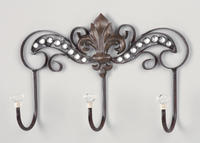 Fleur de Lis Wall Hook  (Wall Decor)