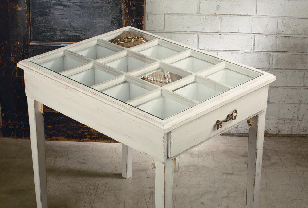 Glass Window Pane Display Table