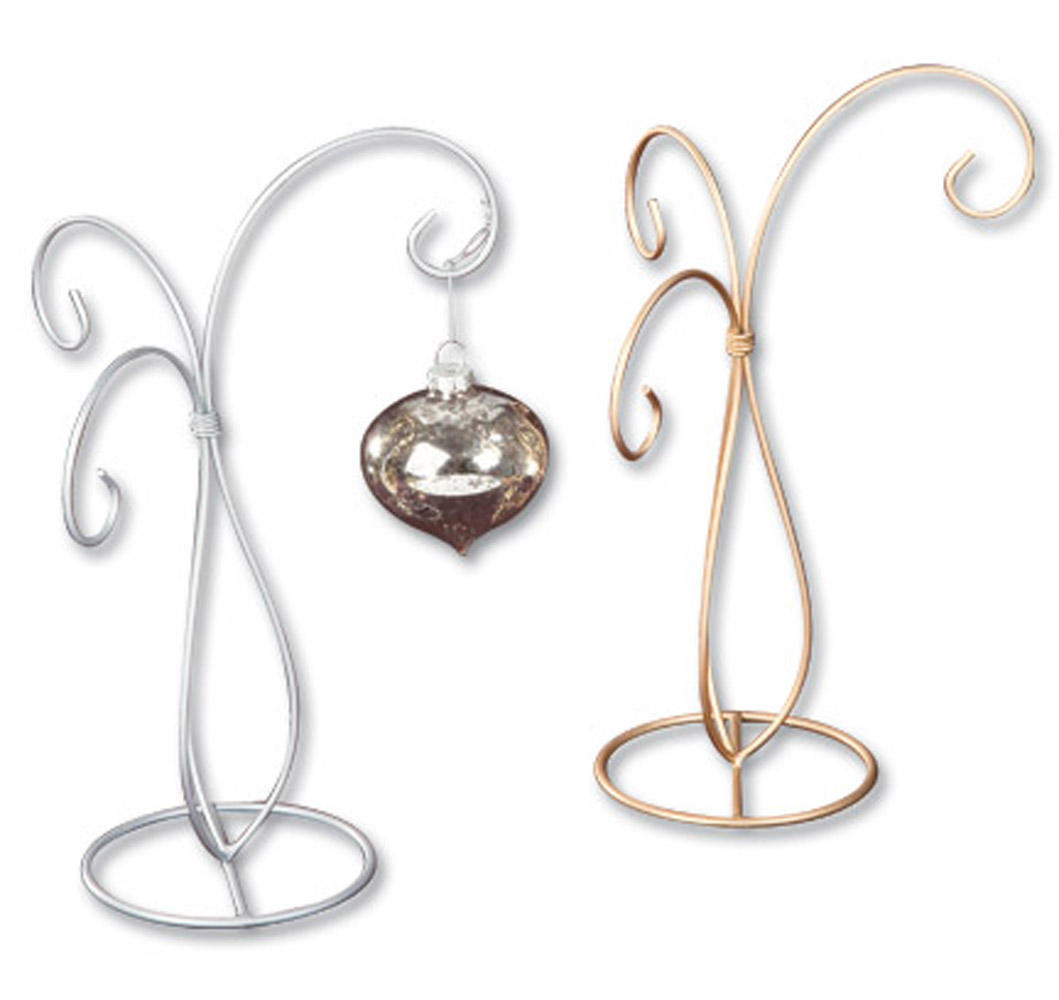 Gold & Silver 3 Arm Ornament Tree (Ornament Stands)
