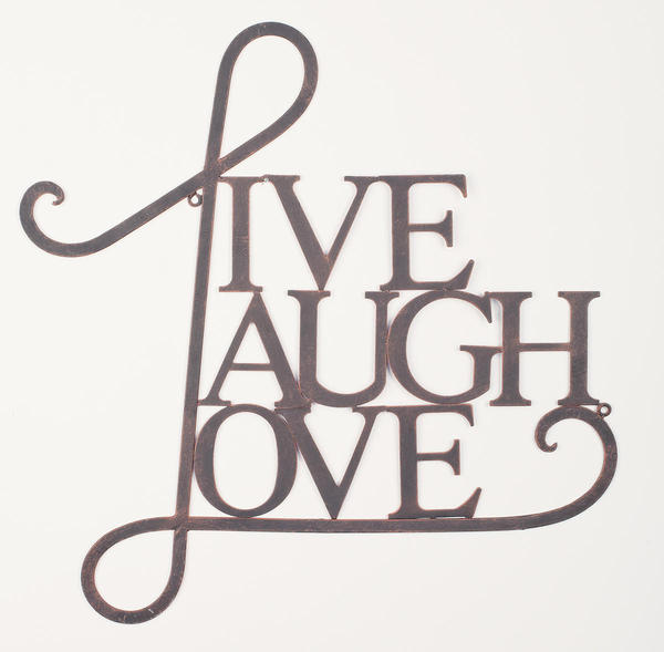 Wall decor by tripar international inc for Live laugh love wall art