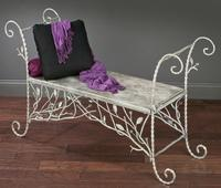 Natural Splendor Metal Bench (Tables & Furniture)