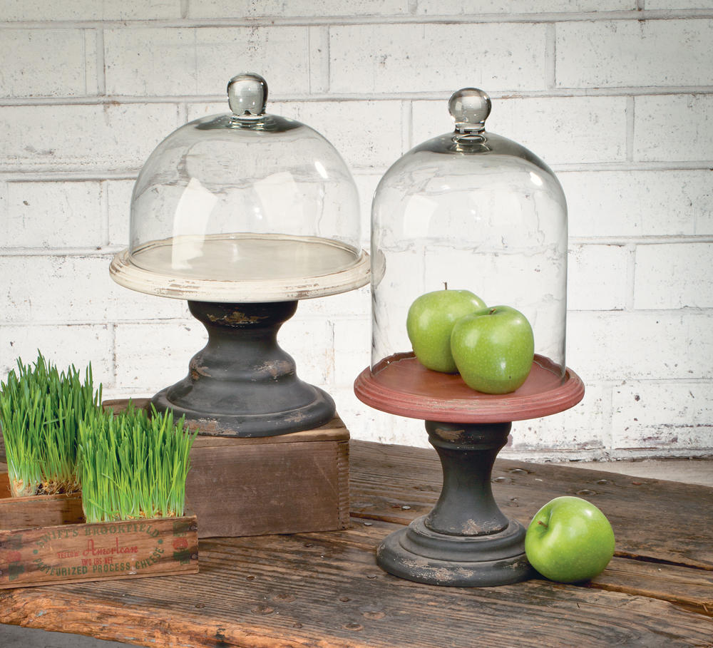 Pedestal Stands with Glass Domes