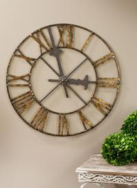 Roman Numeral Clock Wall Art (Wall Decor)