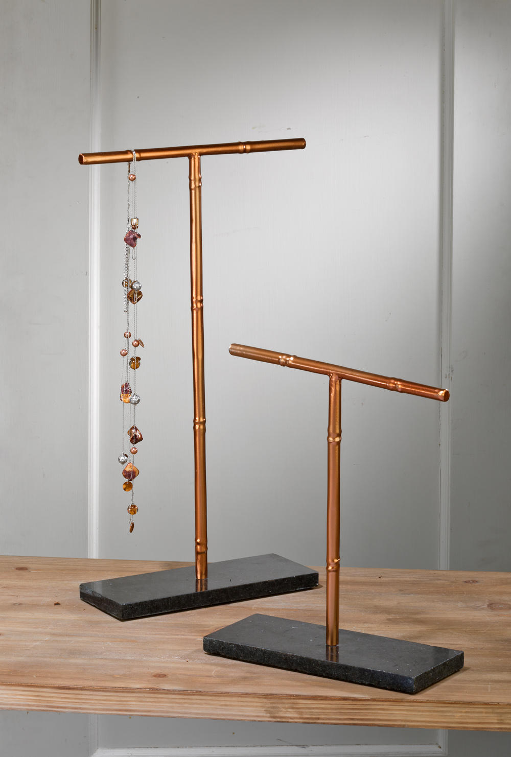Rose Gold T-bar Stands (Jewelry Displays)