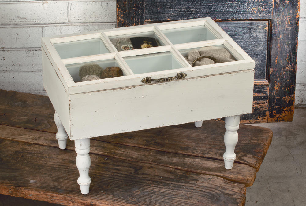 Small Glass Window Top Table  (Jewelry Displays)