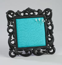 Teal Fabric Square Fashion Memo Board (Jewelry Displays)
