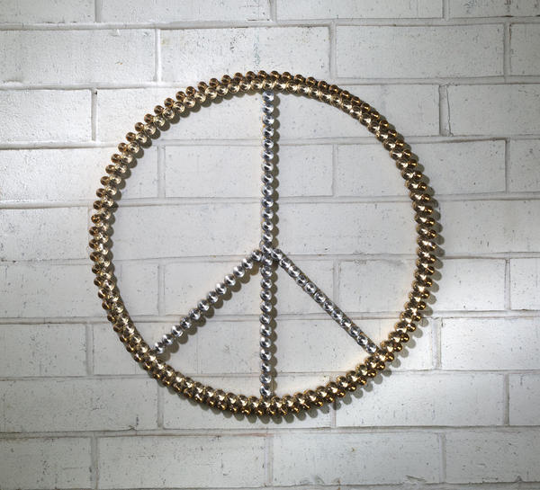 3-Tone Acrylic Bling Peace Sign
