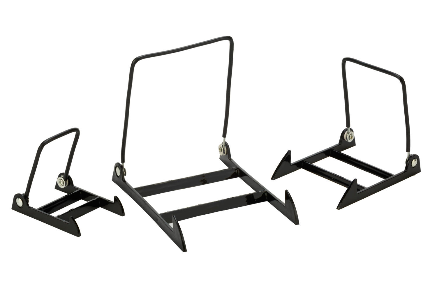 Adjustable Black Acrylic Wire Display Stands (Easels (Tabletop))
