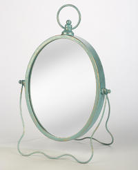 Antiqued Oval Mirror (Jewelry Displays)