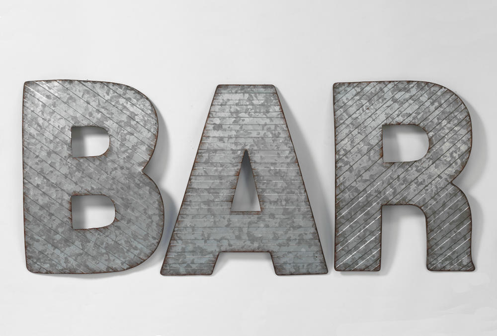 BAR Metal Wall Decor (Wall Decor)