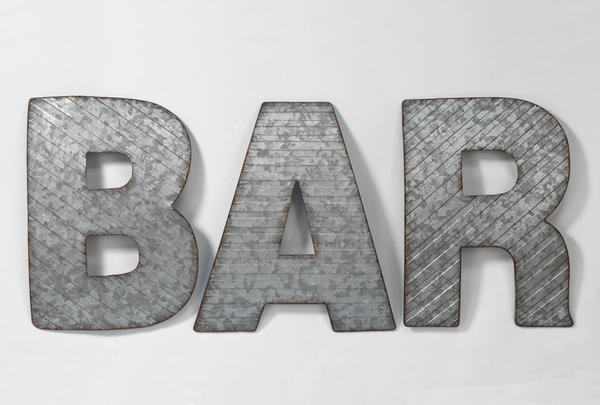 BAR Metal Wall Decor