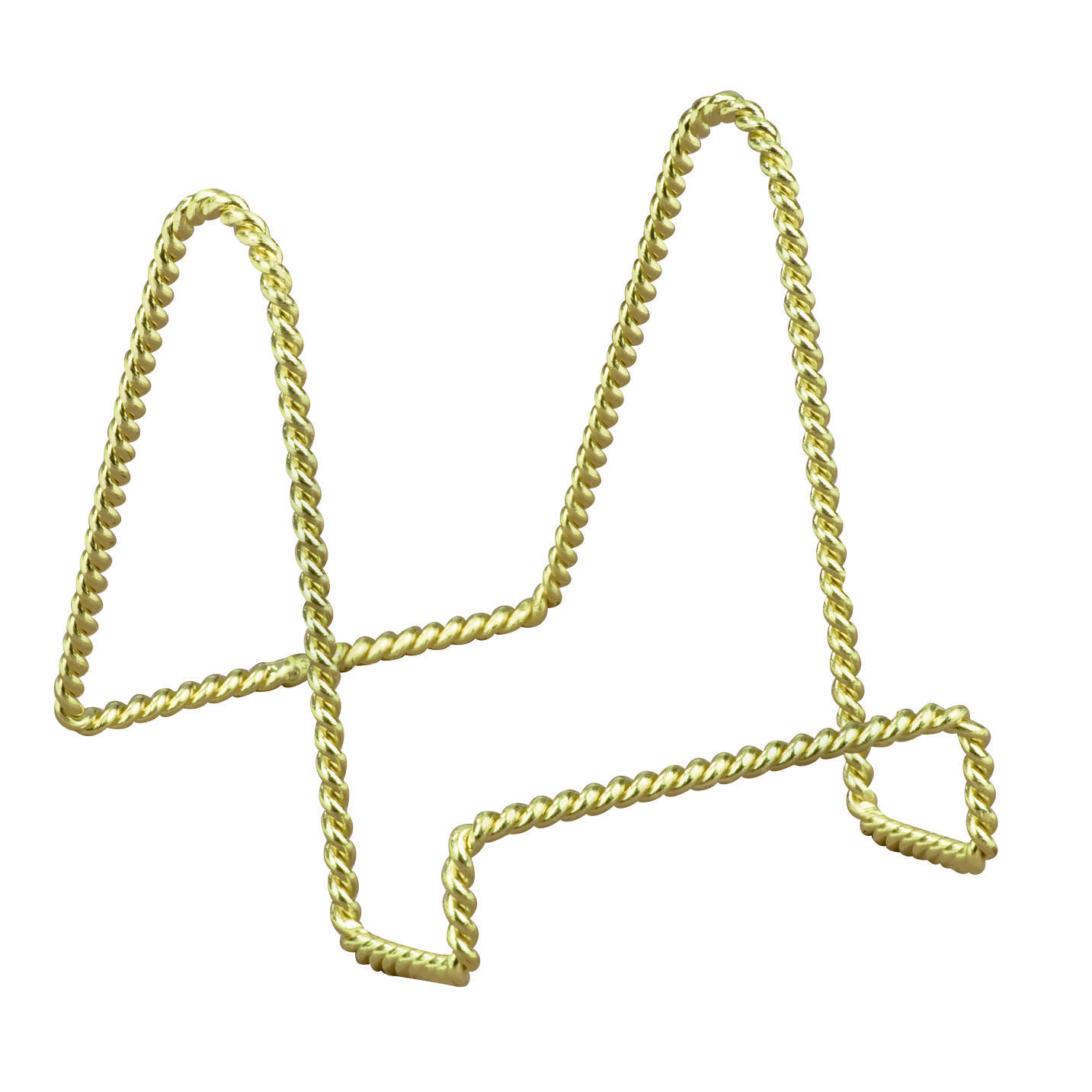 Brass Twisted Wire Stand  (Easels (Tabletop))