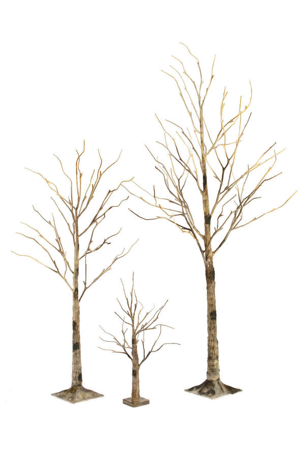 Brown Birch LED Lighted Trees