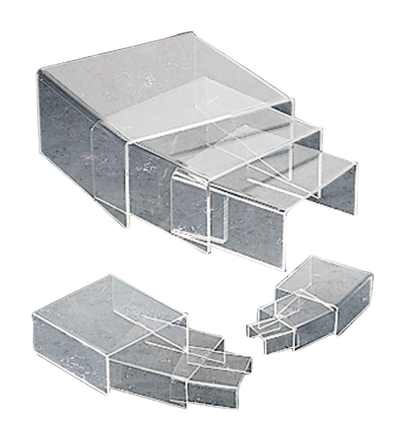 Clear Acrylic Low Profile Risers  (Risers)
