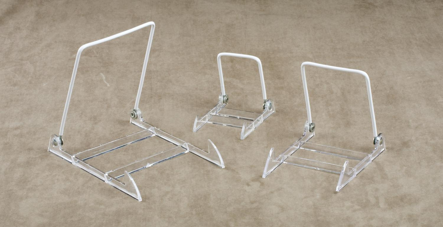 Clear Adjustable Wire Easel (Plate Stands (Single))