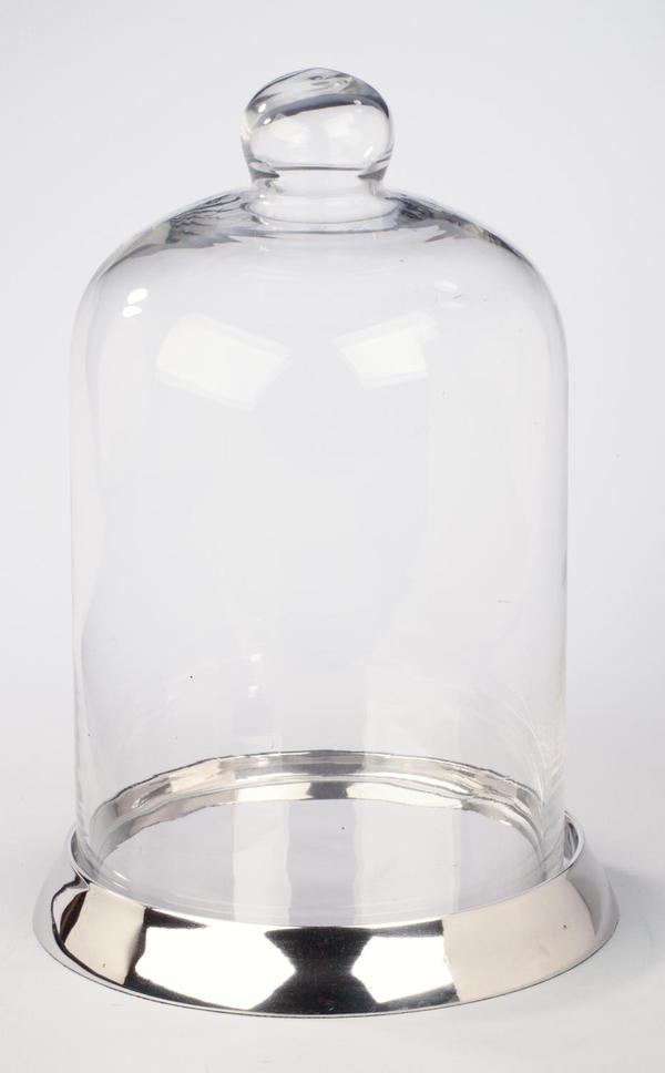 Clear Glass Dome & Nickel Plated Base