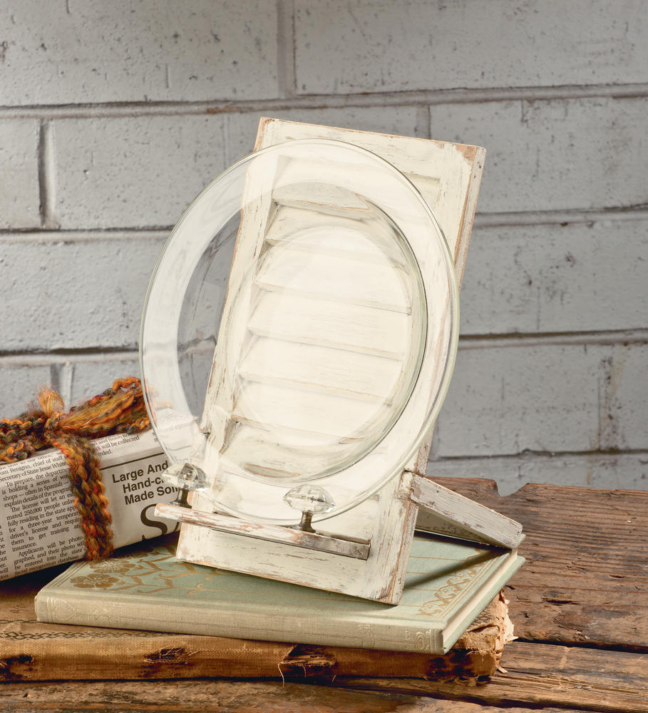 Cream Shutter Easel  (Book & Cookbook Stands)