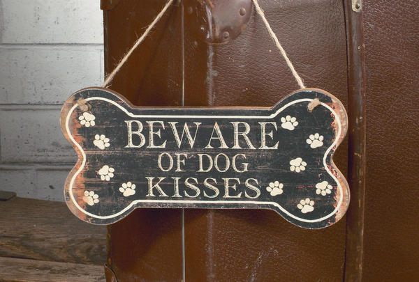 Dog Kisses Wall Plaque