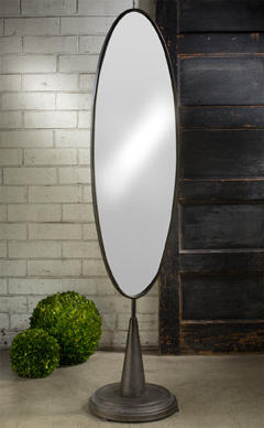Extra Large Industrial Oval Mirror     (Home Accents)