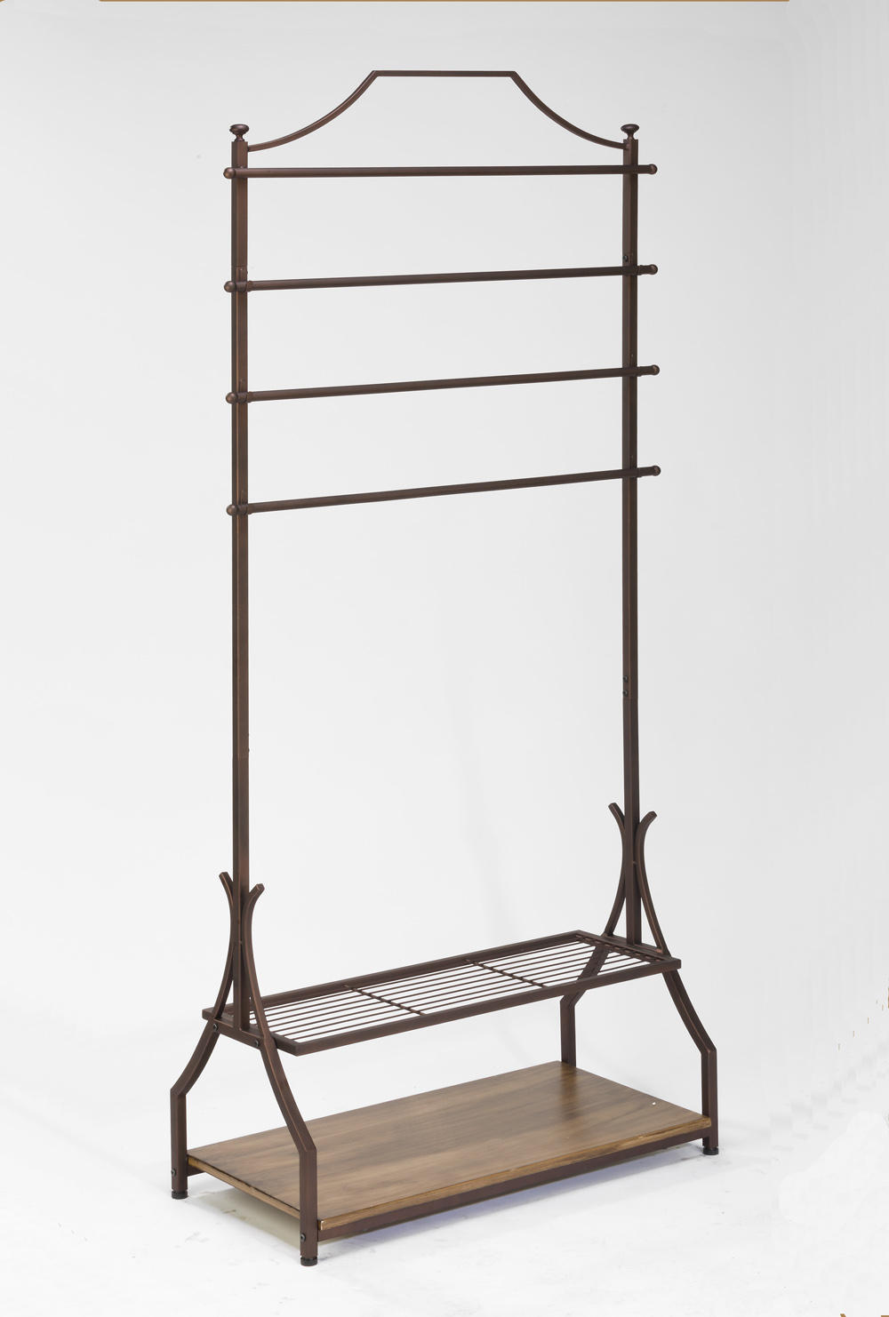 Floor Rack with Wood Base (Scarf, Purse & Fashion Displays)