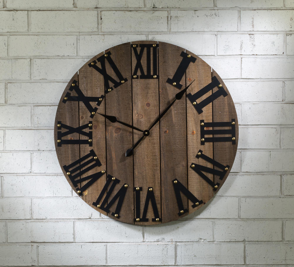 Functional Wooden Wall Clock (Wall Decor)