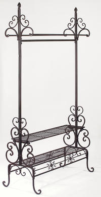 Garment Floor Rack (Our new dark brown garment floor rack is elegant and ideal for showcasing scarves, clothing, purses, shoes or any accessories. Its a great way to create extra hanging space and display the latest and greatest pieces. Works great in home or in store.)