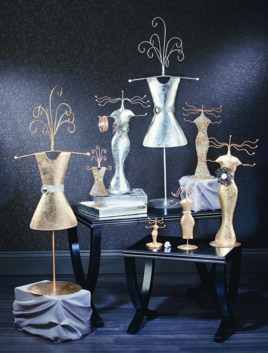 Gold and Silver Jewelry Stands  (Jewelry Displays)