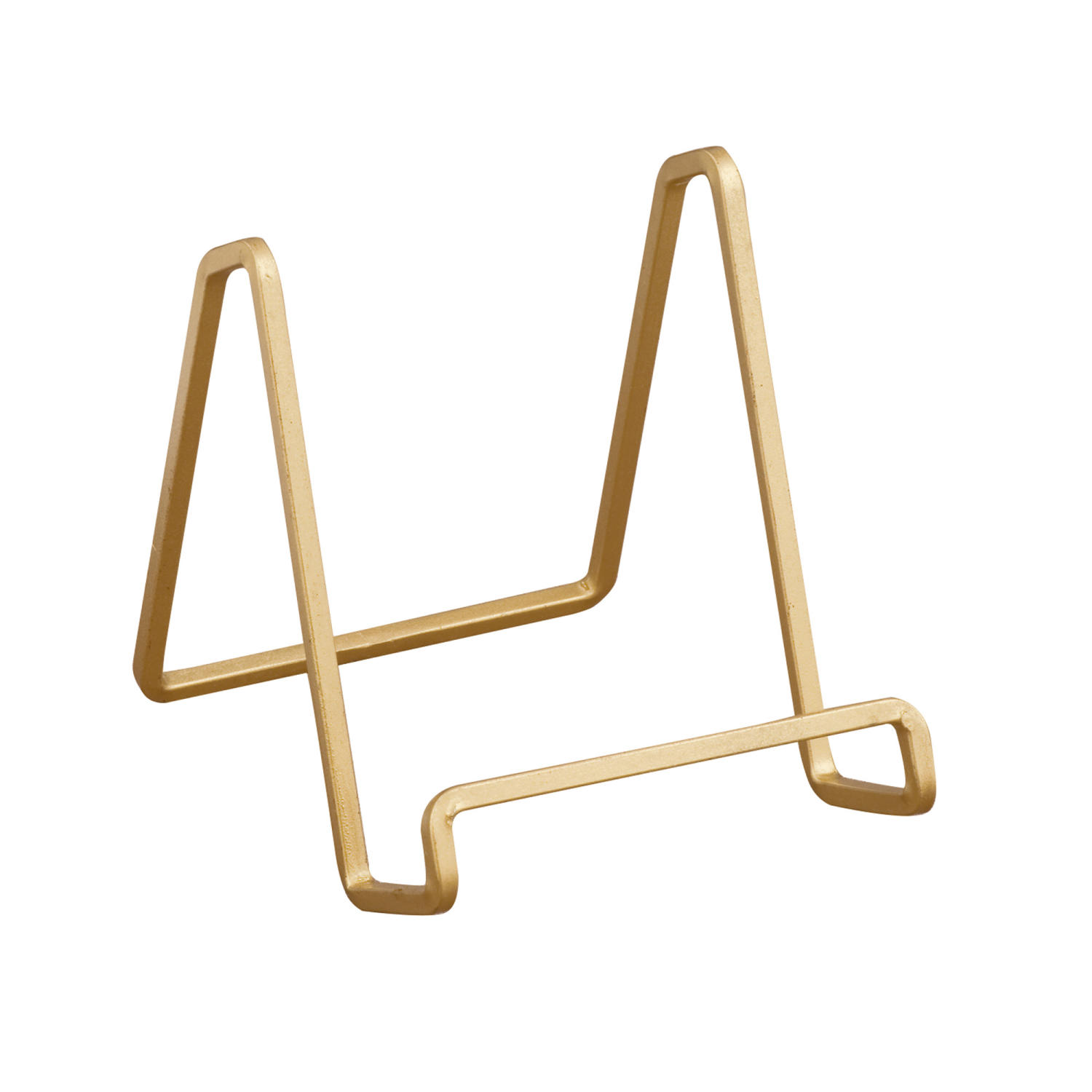 Gold Square Wire Stand   (Plate Stands (Single))