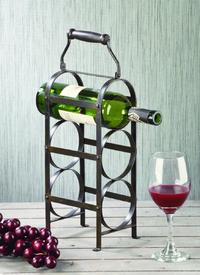Industrial 3 Place Wine Bottle Holder (Wine Accessories)