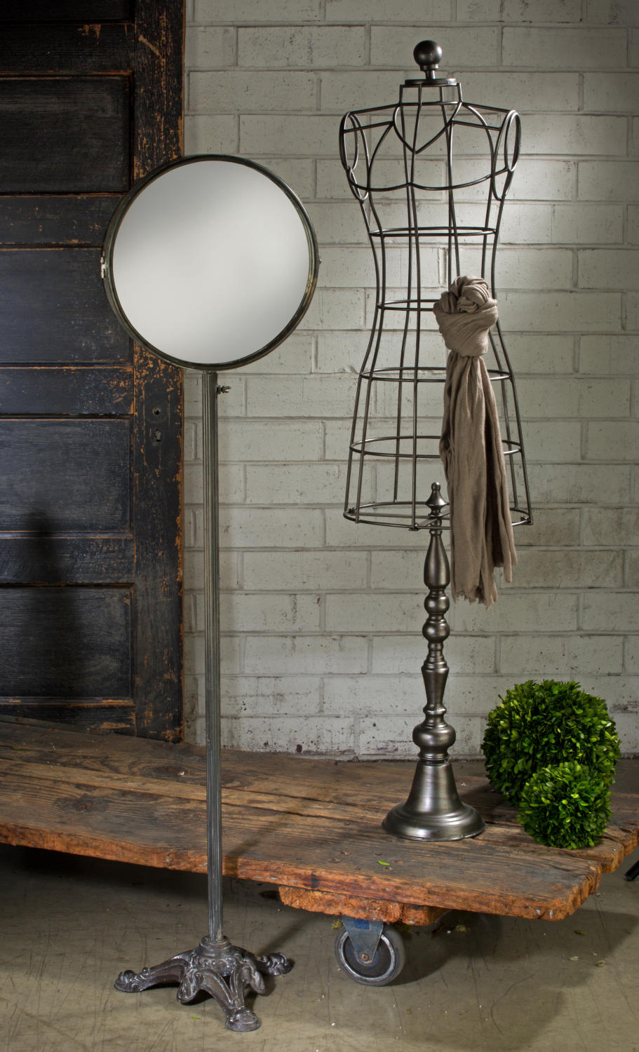 Industrial Body Form & Antiqued Mirror  (Body Forms (Large/Floor))