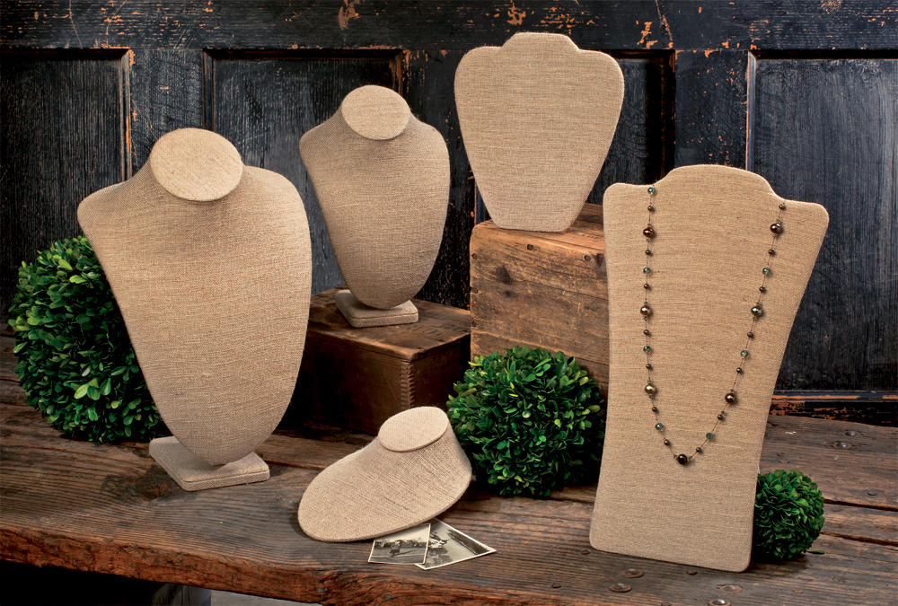 Jute Neck Form Displays   (Jewelry Displays)