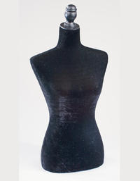 Large Black Velvet Table Top Body Form  (Accent any fashion product with our large body forms.  These table top dress forms are weighted at the bottom to stand securely. Pierceable Styrofoam Core is sturdy to provide more display options. Displays shirts, scarves, jackets, jewelry and more!)