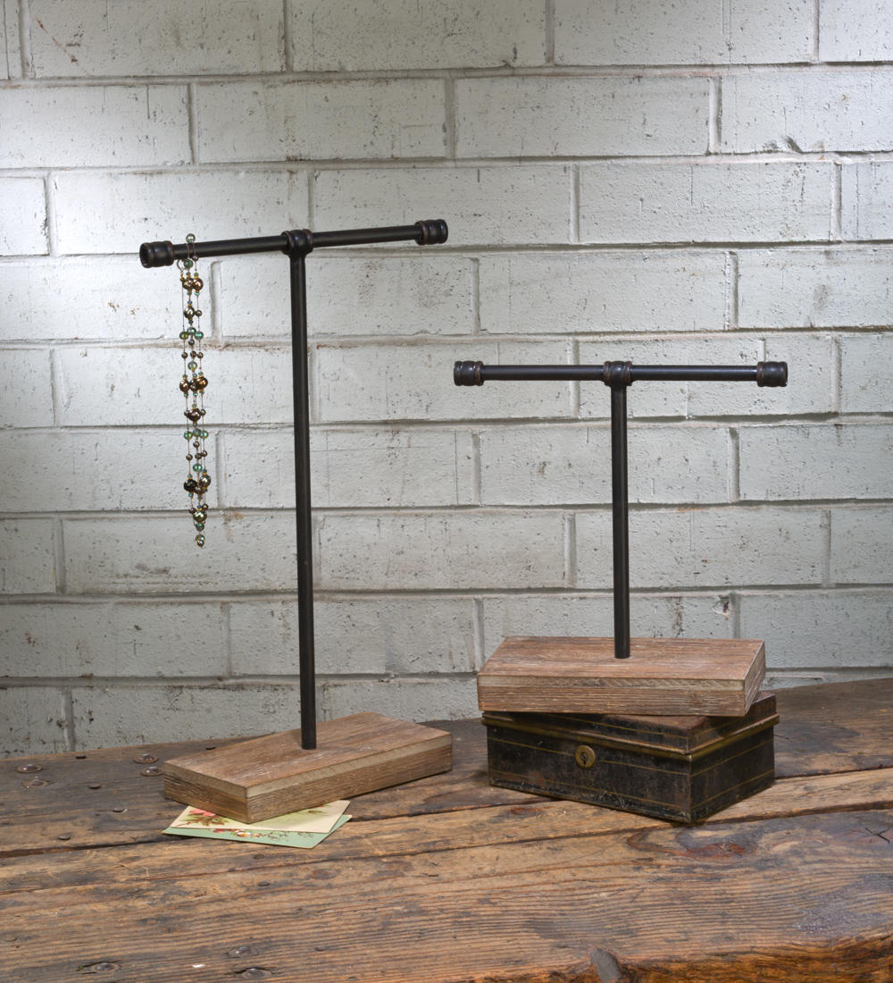 Large Industrial T-Bar Stands (Jewelry Displays)