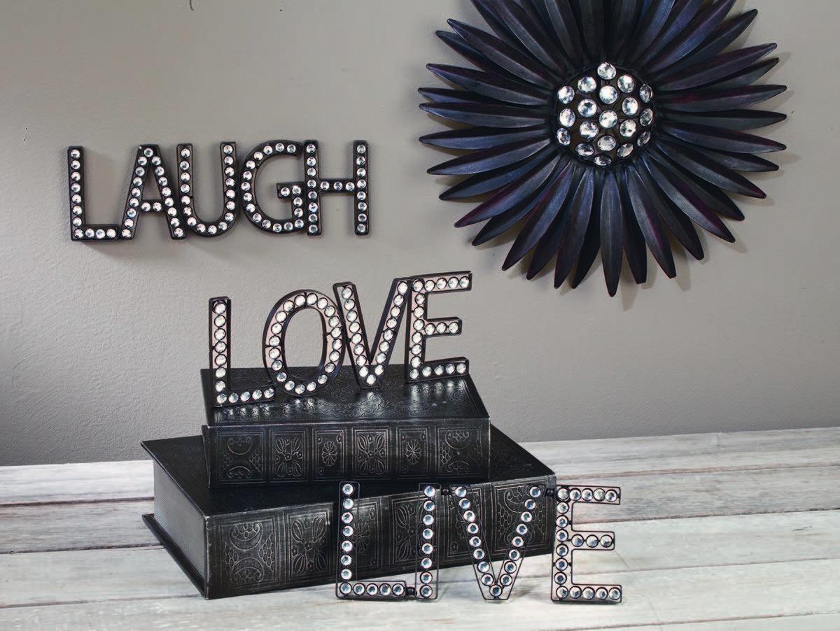 Live love laugh beaded wall art tripar international inc live love laugh beaded wall art wall decor amipublicfo Gallery