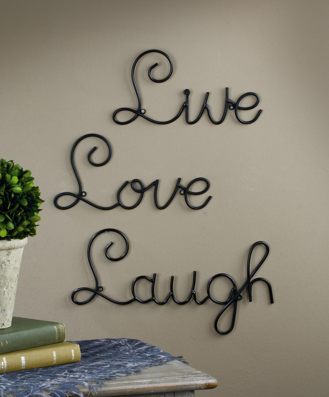 Wall Art For Love : Live love laugh wall art expressions tripar