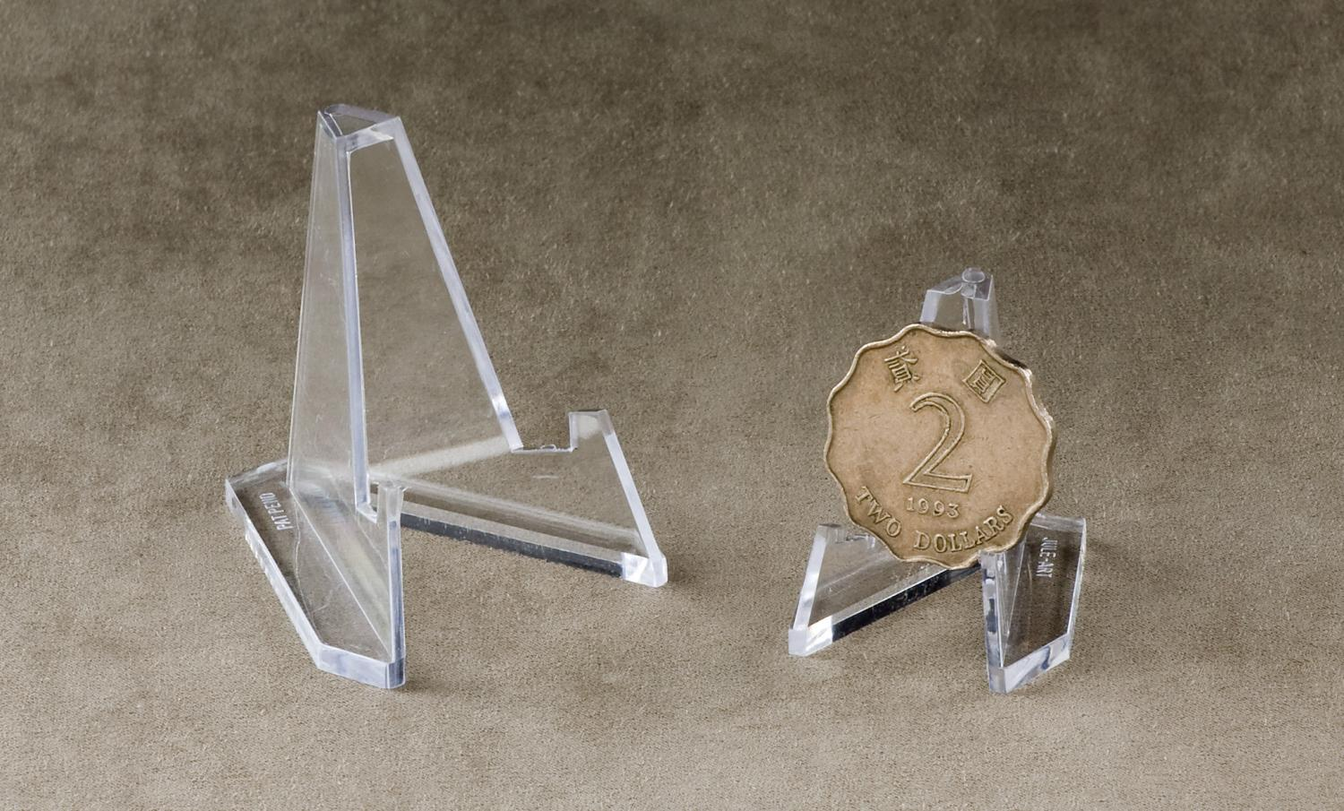 Mini Acrylic Easel Stand   (Egg, Coin & Specialty Stands)
