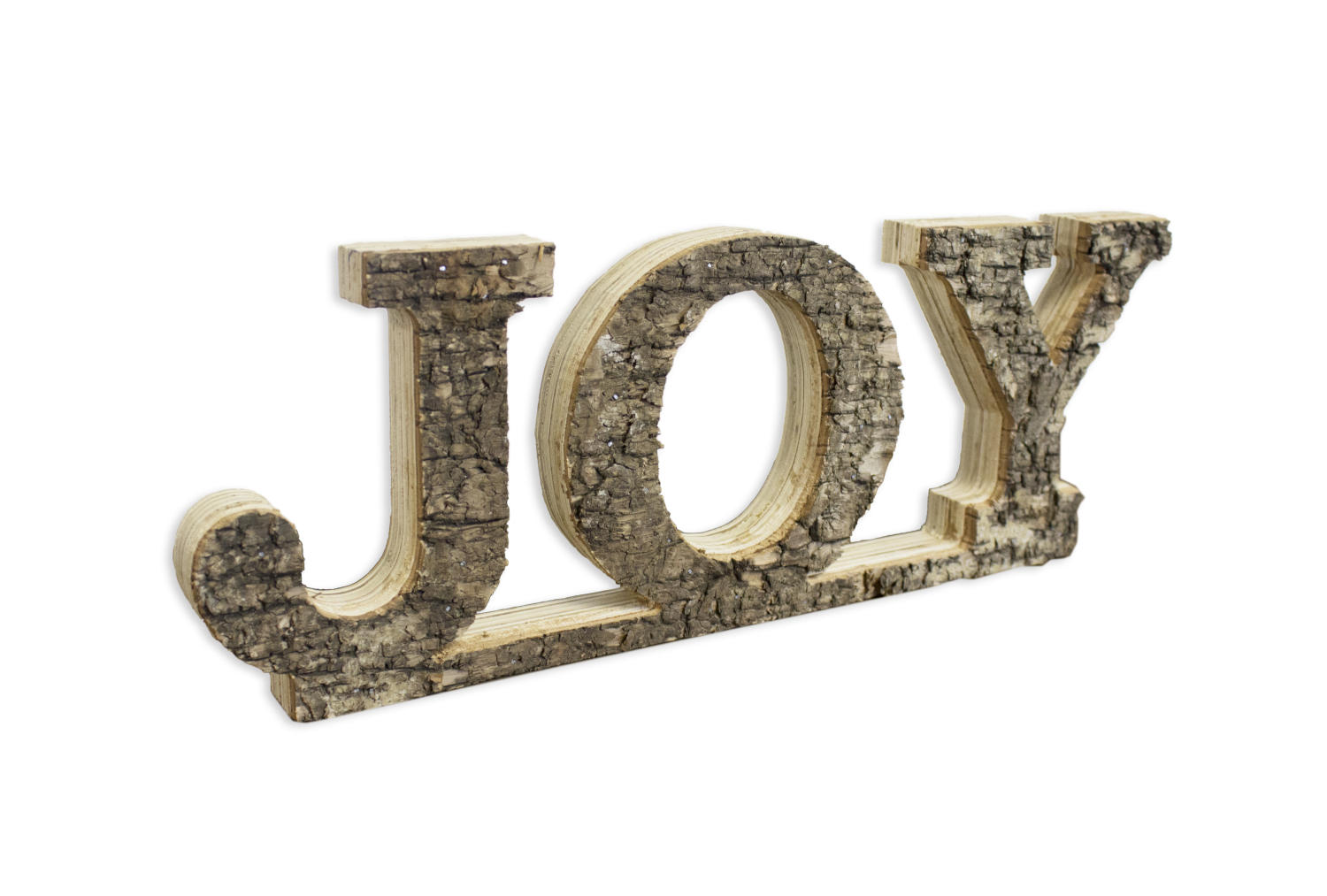 "Natural Birch Word Art ""Joy"" (Home Accents)"