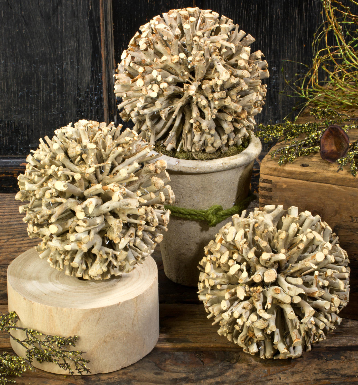 Natural Wooden Twig Ball (Home Accents)