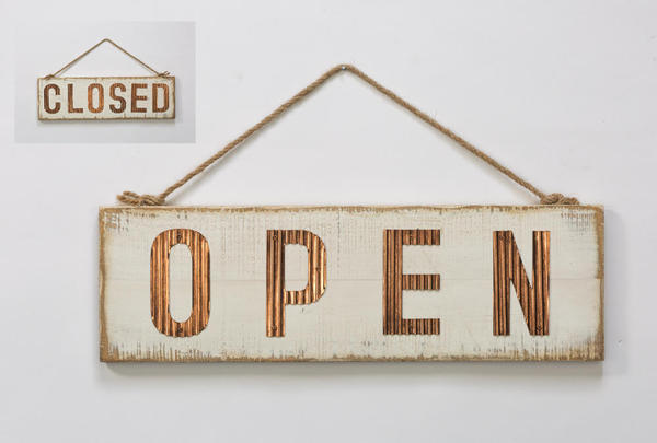 OPEN/CLOSED Two-Sided Sign