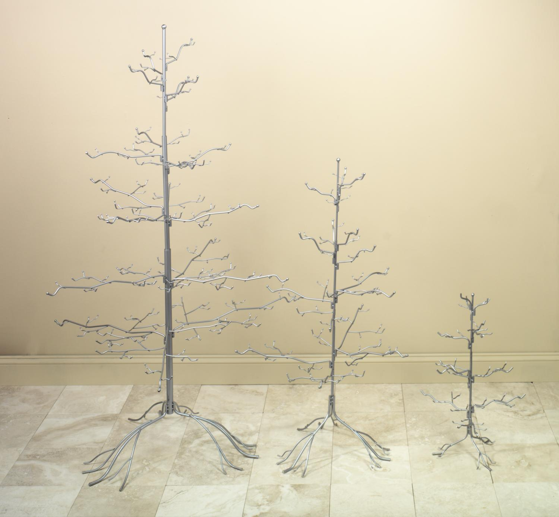 Ornament display tree display trees silver ornament display tree