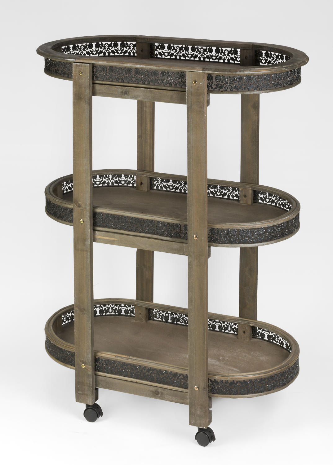 Oval Wood 3 Tier Display (Tiered Displays & Platforms)