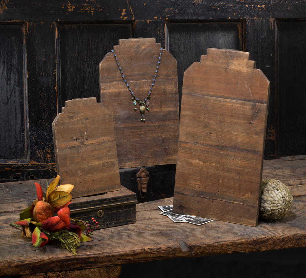 Reclaimed Wood Neck Forms (Jewelry Displays)