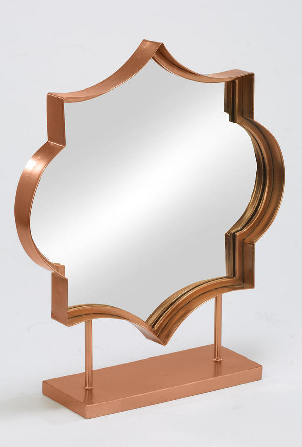 Rose Gold Table Top Mirror