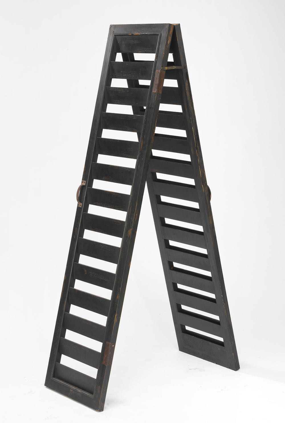 Rustic Black 2-Sided Shutter Ladder (Tables & Furniture)