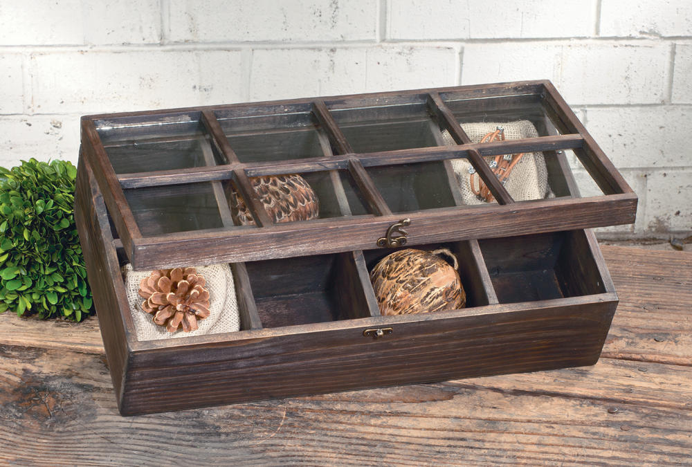Rustic Brown Window Display Box