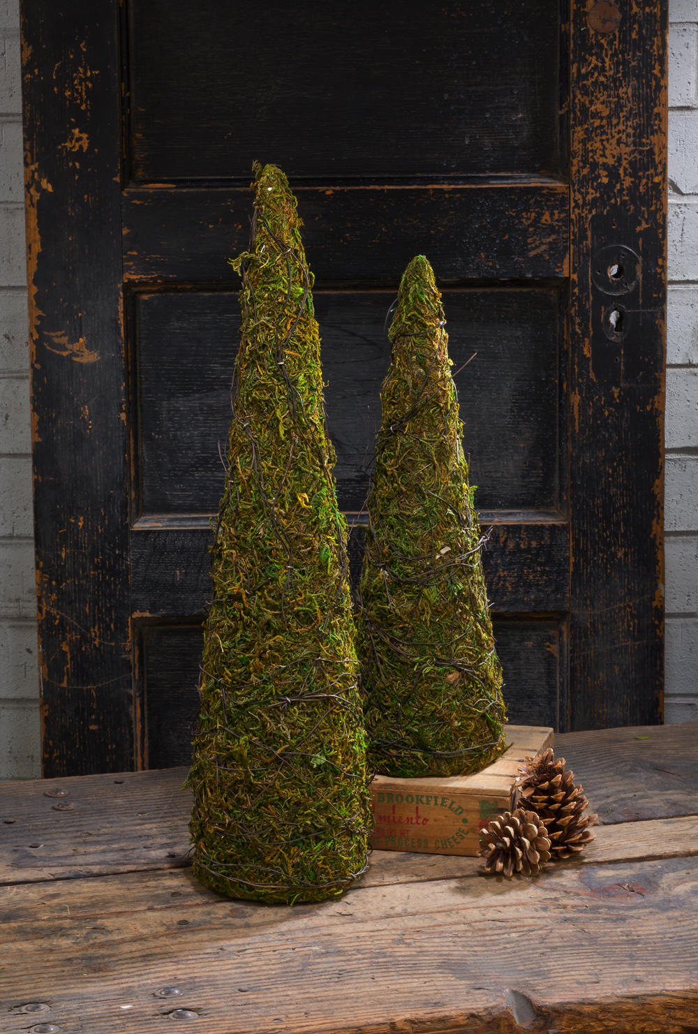 Set/2 Mossy Cone Tree (Home Accents)