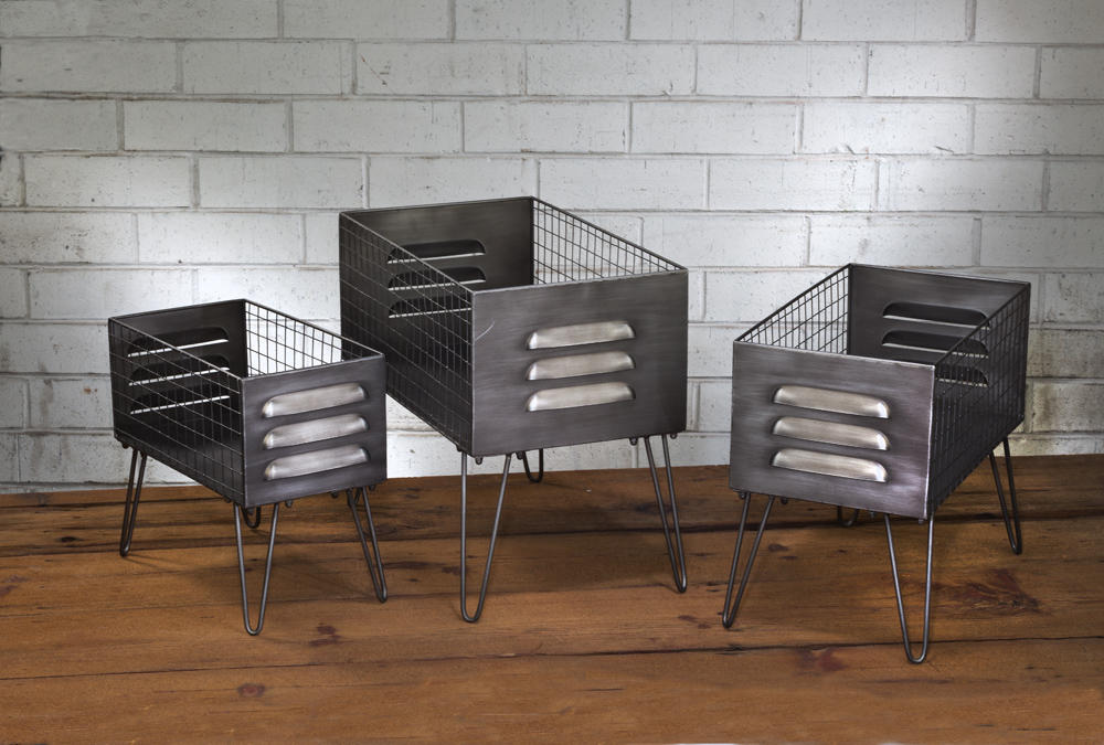 Set/3 Elevated Locker Baskets (Home Accents)